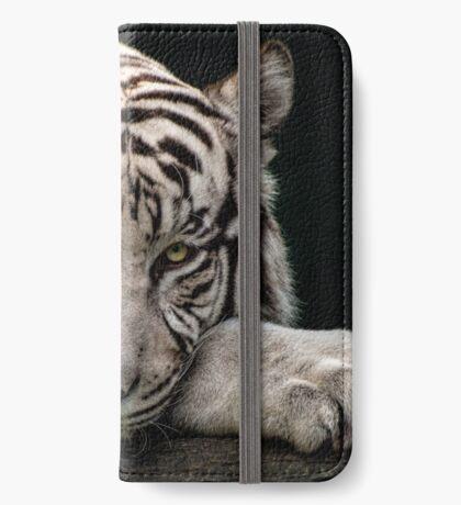 Weißer Tiger iPhone Flip-Case