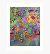 Floral Dream, Acrylic Painting  Art Print