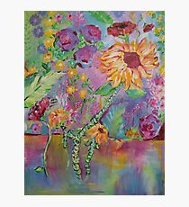 Floral Dream, Acrylic Painting  Photographic Print