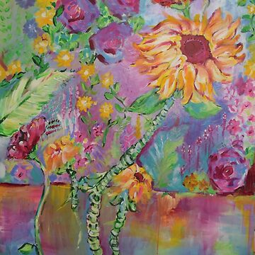 Floral Dream, Acrylic Painting  by natalieweinberg