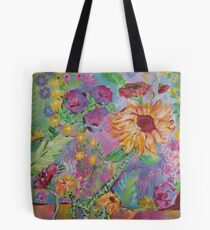 Floral Dream, Acrylic Painting  Tote Bag