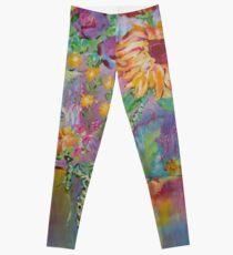 Floral Dream, Acrylic Painting  Leggings