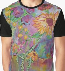 Floral Dream, Acrylic Painting  Graphic T-Shirt