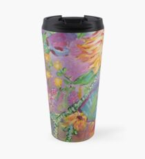 Floral Dream, Acrylic Painting  Travel Mug