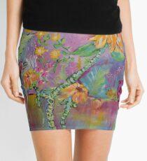 Floral Dream, Acrylic Painting  Mini Skirt