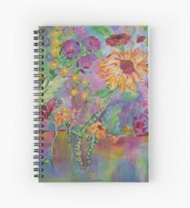 Floral Dream, Acrylic Painting  Spiral Notebook