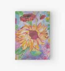 Floral Dream, Acrylic Painting  Hardcover Journal