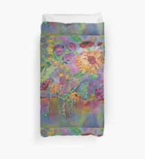 Floral Dream, Acrylic Painting  Duvet Cover