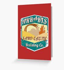 ARRAKIS SAND CASTLE BUILDING COMPANY  Greeting Card