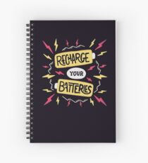 Recharge your batteries Spiral Notebook