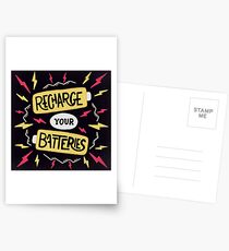 Recharge your batteries Postcards