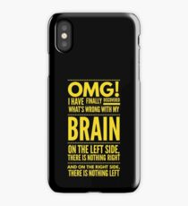 Cute and Cool Funny Merchandise - My Brain - Best Gift for Men, Women, Mom, Dad, Boyfriend, Girlfriend, Husband, Wife, Him, Her, Couples, Grandma, Brother or Friends iPhone Case/Skin