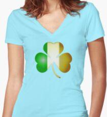 Clover Women's Fitted V-Neck T-Shirt
