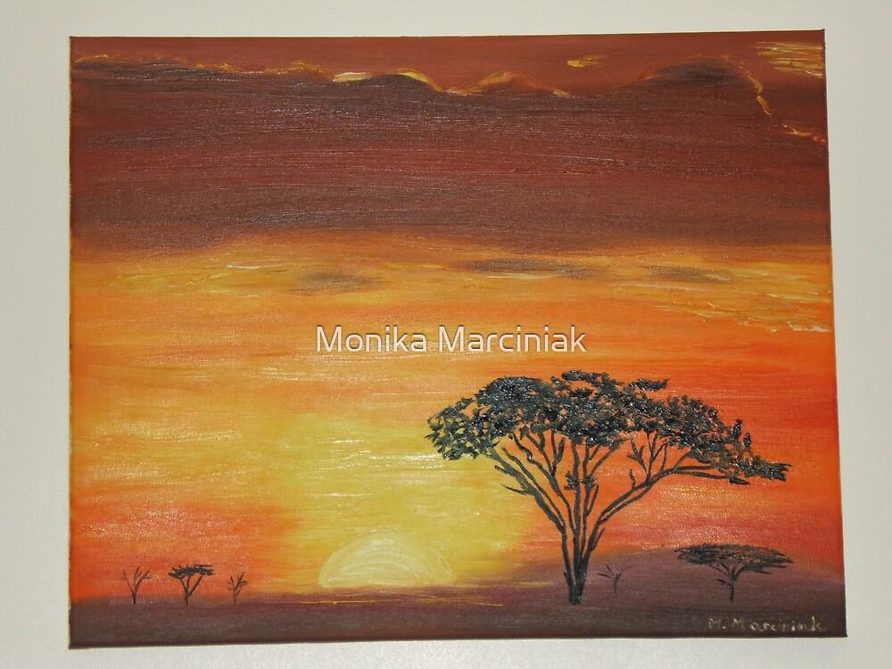 African Sunset by Monika Marciniak