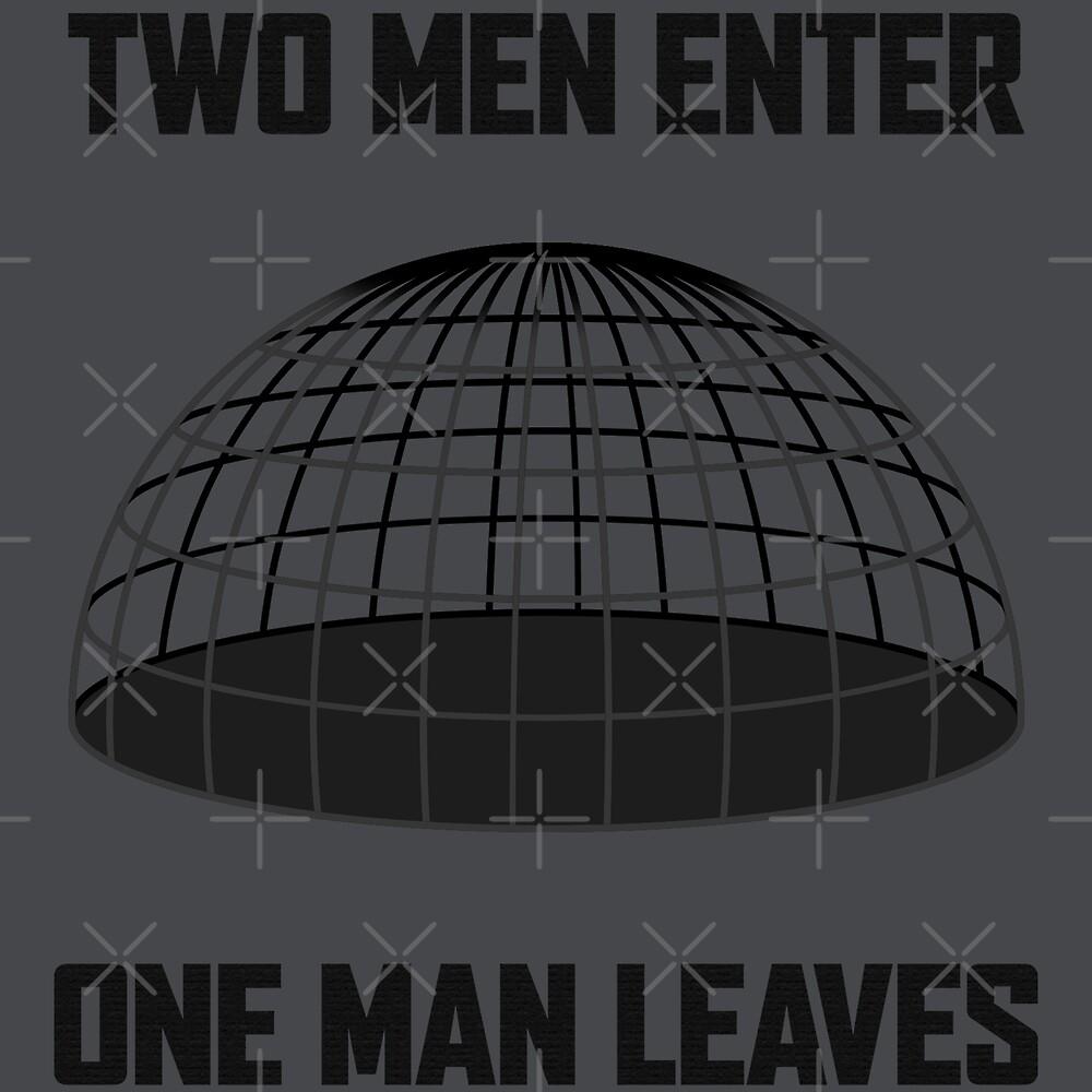 Two Men Enter, One Man Leaves by Marksman