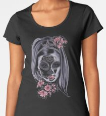 Girl Sugar Skull Women's Premium T-Shirt