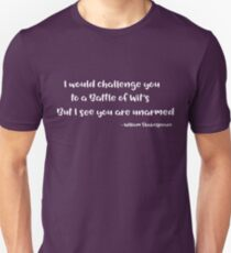 William Shakespeare Funny Quote Design T-Shirt