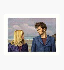 TENTH DOCTOR & ROSE TYLER Art Print