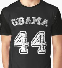 Barack Obama 44th President Shirt - Faux Jersey 44 USA White Graphic T-Shirt