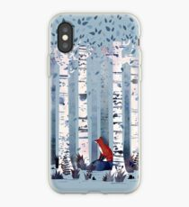 The Birches (in Blue) iPhone Case