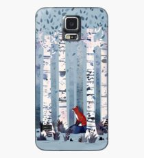 The Birches (in Blue) Case/Skin for Samsung Galaxy