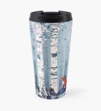 The Birches (in Blue) Travel Mug