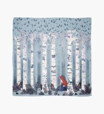 The Birches (in Blue) Scarf