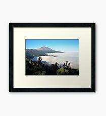 El Teide above the clouds Framed Print