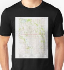 USGS TOPO Maps Iowa IA Oakland Acres 175274 1980 24000 Unisex T-Shirt