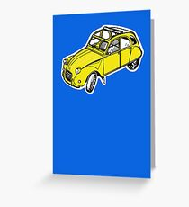 citroen 2 cv  Greeting Card