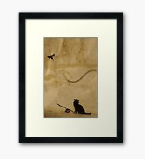 Cat vs Rat Framed Print