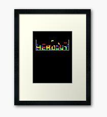 Tetris HeadOut Framed Print