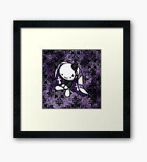 Princess of Clubs White Rabbit Framed Print