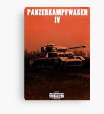 Panzerkampfwagen IV - Stylized (Design & Art: Nuclear Jackal) Canvas Print