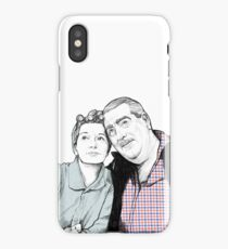 Stan and Hilda Ogden pencil drawing Coronation Street CORRIE iPhone Case/Skin