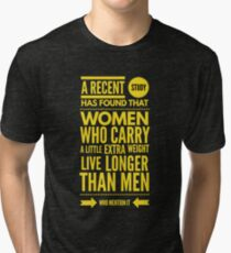 Cute and Cool Funny Merchandise - A Little Extra Weight - Best Gift for Men, Women, Mom, Dad, Boyfriend, Girlfriend, Husband, Wife, Him, Her, Couples, Grandma, Brother or Friends Tri-blend T-Shirt