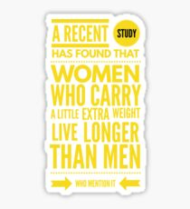 Cute and Cool Funny Merchandise - A Little Extra Weight - Best Gift for Men, Women, Mom, Dad, Boyfriend, Girlfriend, Husband, Wife, Him, Her, Couples, Grandma, Brother or Friends Sticker