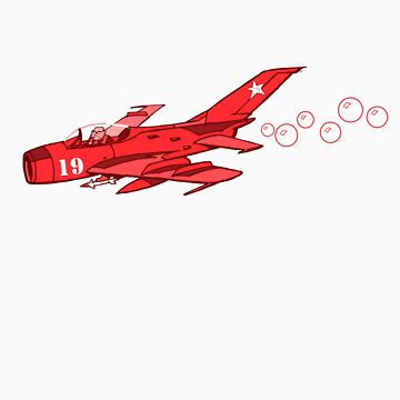 little red mig 19 by johnkratovil