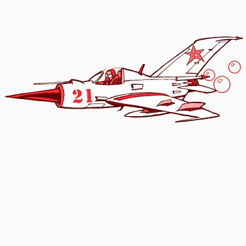 little red mig 21 by johnkratovil