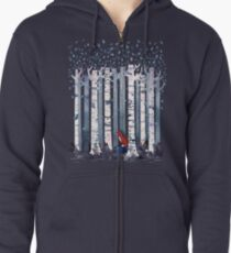 The Birches (in Blue) Zipped Hoodie