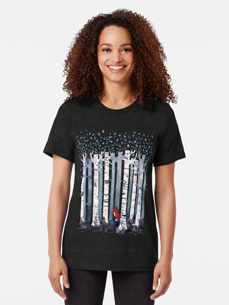 Alternative Ansicht von Die Birken (in Blau) Vintage T-Shirt