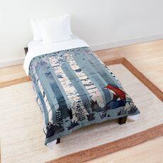 Les bouleaux (en bleu) Couvre-lit