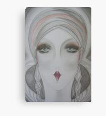 art deco flapper  70s Jacqueline Mcculloch Canvas Print