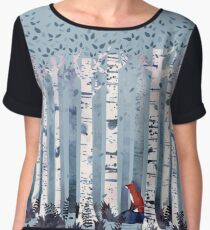 The Birches (in Blue) Chiffon Top