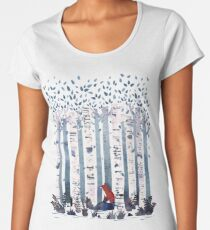 The Birches (in Blue) Women's Premium T-Shirt