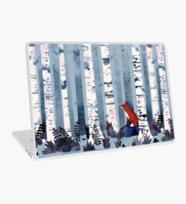 Die Birken (in Blau) Laptop Skin