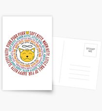 Soft Kitty Song - colored Postcards