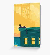 Urban jaguar Greeting Card