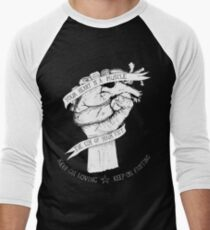 Your Heart Is A Muscle Reverse  Men's Baseball ¾ T-Shirt