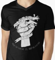 Your Heart Is A Muscle Reverse  Men's V-Neck T-Shirt